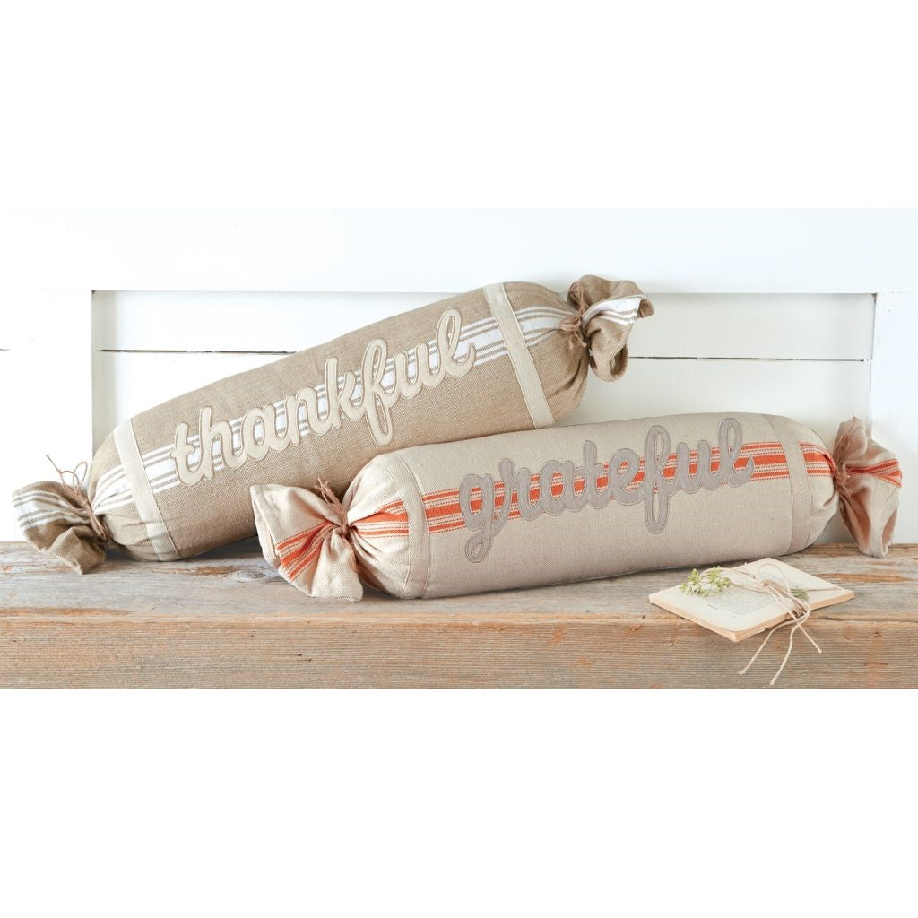 Grainsack Bolster Pillows Thankful, Grateful