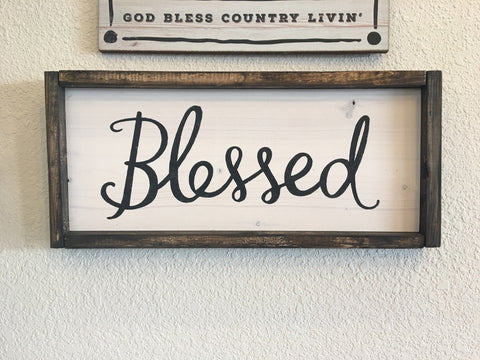 Blessed Sign Wood Framed Sign