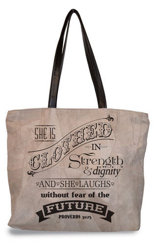 Leather Small Bag - Proverbs 31:25