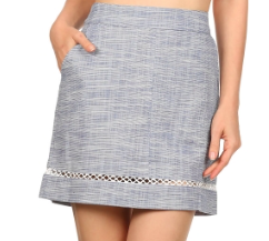 TWO TONE LAVE TRIM SKIRT