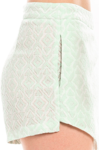 Diamond Pattern A-Line Shorts