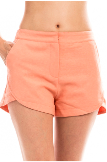 High Waist Pocket Shorts - Yellow