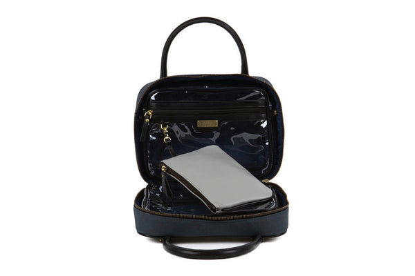 Madeleine Voyager Travel Toiletry Bag - Blue