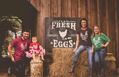 Farm Fresh Mason Jar Tee - Heather Brown