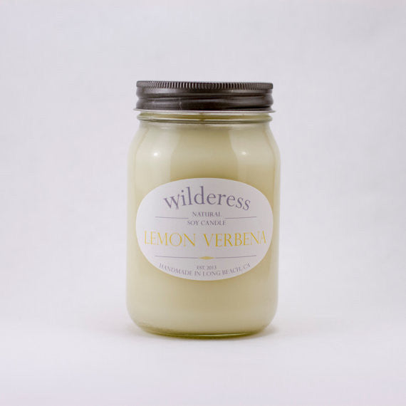 Lemon Verbena 90 Hour Natural Soy Candle by Wilderess