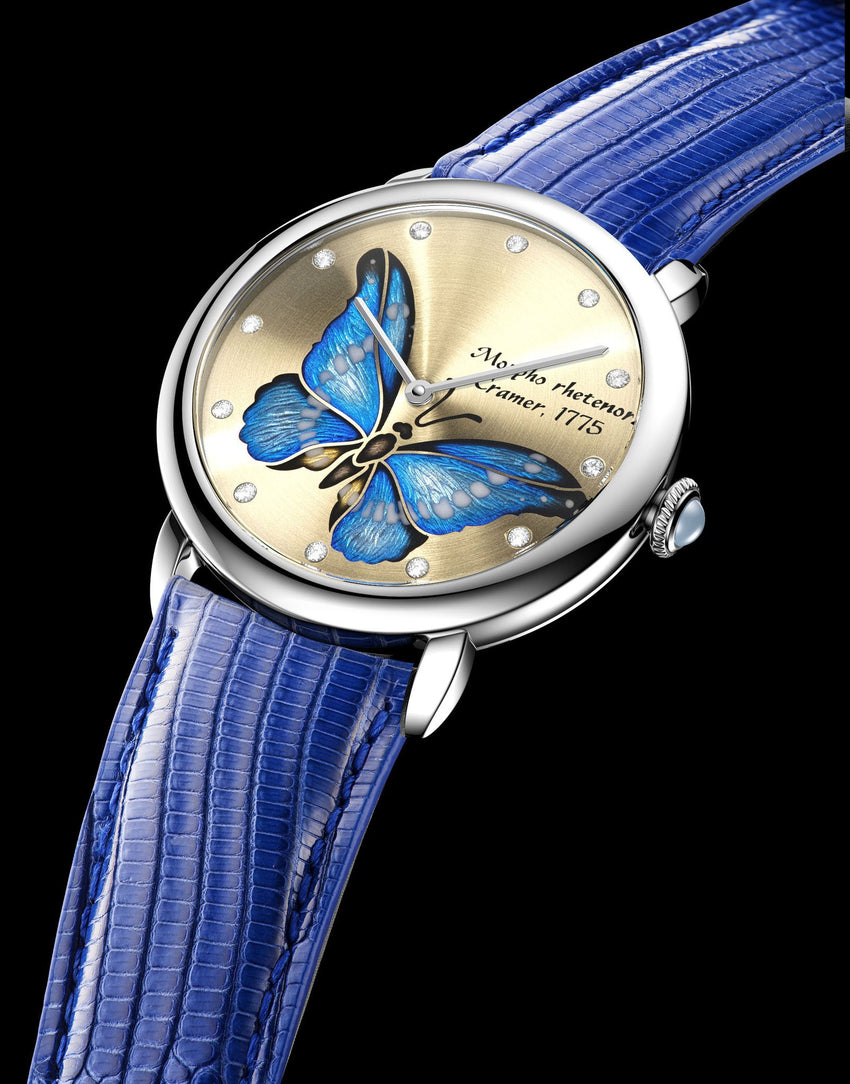 Glorious Butterfly. Azure Mirage. - Namfleg Enamel Jewelry