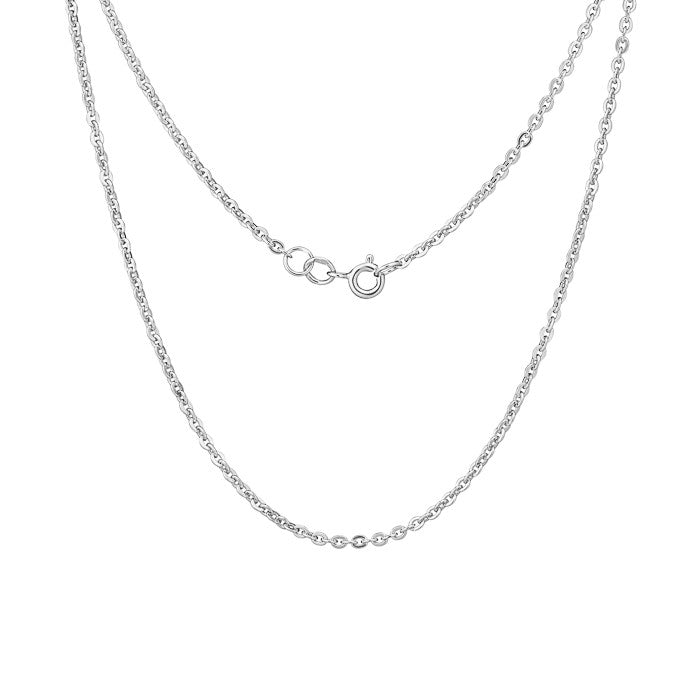 Cable Chain Silver. ch005silver - Namfleg Enamel Jewelry