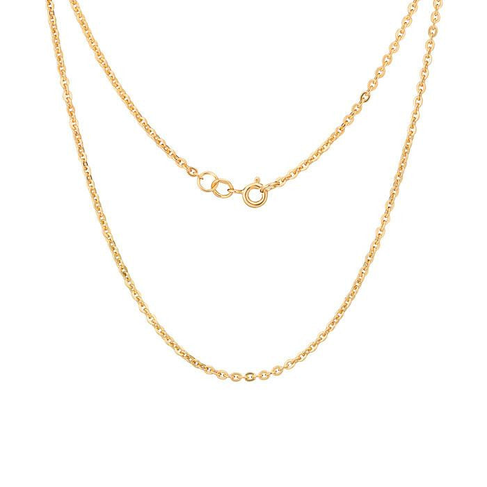 Cable Chain Gold. ch005gold - Namfleg Enamel Jewelry