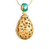 "Silver pendant ""Jungle Tropics"" with 18K gold plating. pp2006"