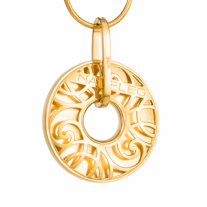 "Silver pendant ""Tor"" with 18K gold plating. po2014 - Namfleg Enamel Jewelry"