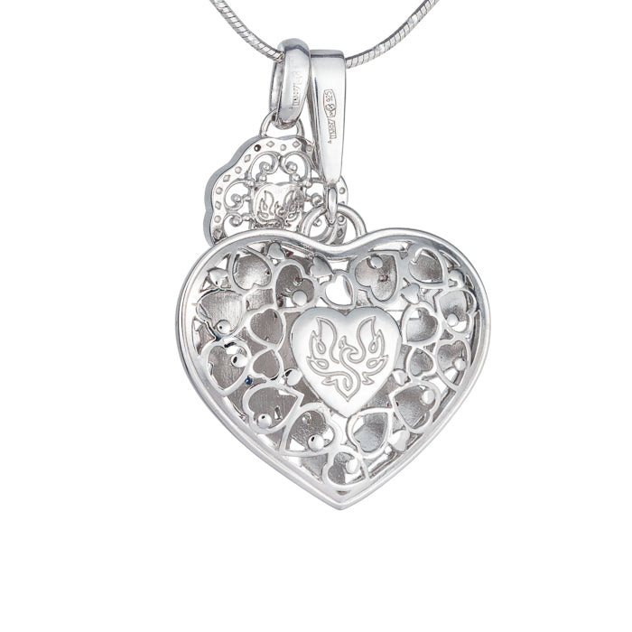 "Silver pendant and charm ""Key to my heart. Follow your heart"". ph1000 & phk1000"