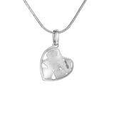 "Silver mini pendant ""Shadow Heart"". psm1004"