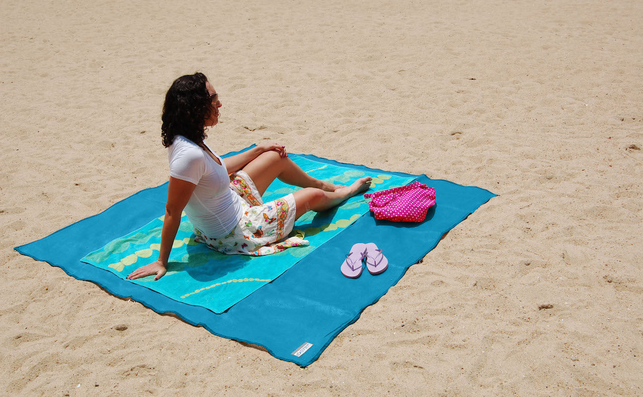 Girl on Sand-Free Mat