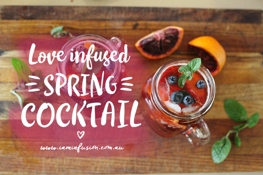 Love infused spring cocktail