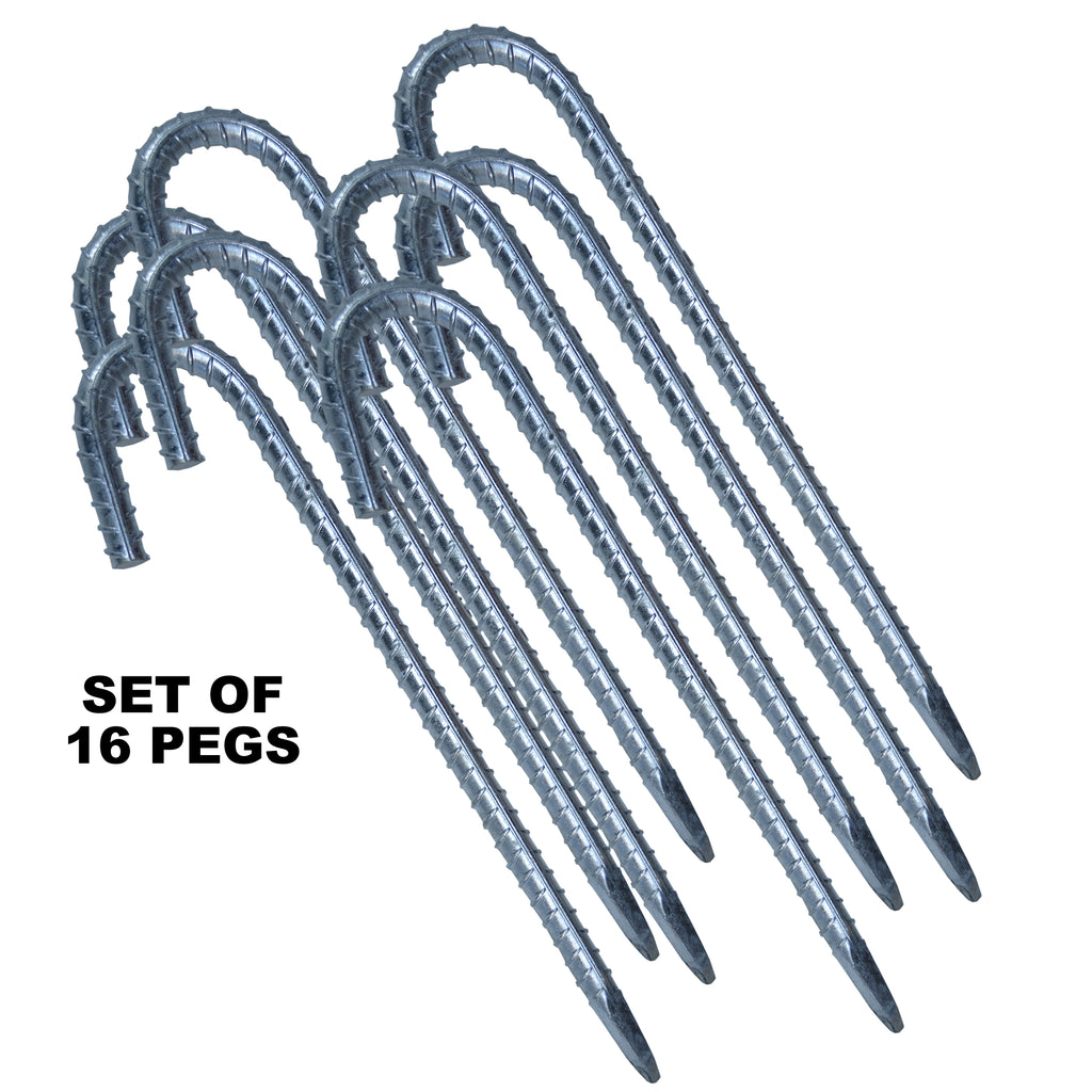 Jumbo 12mm Galvanised Marquee Gazebo Ground Bar Pegs Stakes