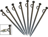 8 x Very Heavy Duty Mooring Pegs Stakes for Canal & River Boats with Eyelet  NEW 600mm x 20mm