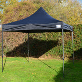 3m x 3m Black Heavy Duty SHOWSTYLE® Commercial Grade Gazebo