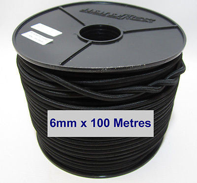 Bungee Cord Black 6mm