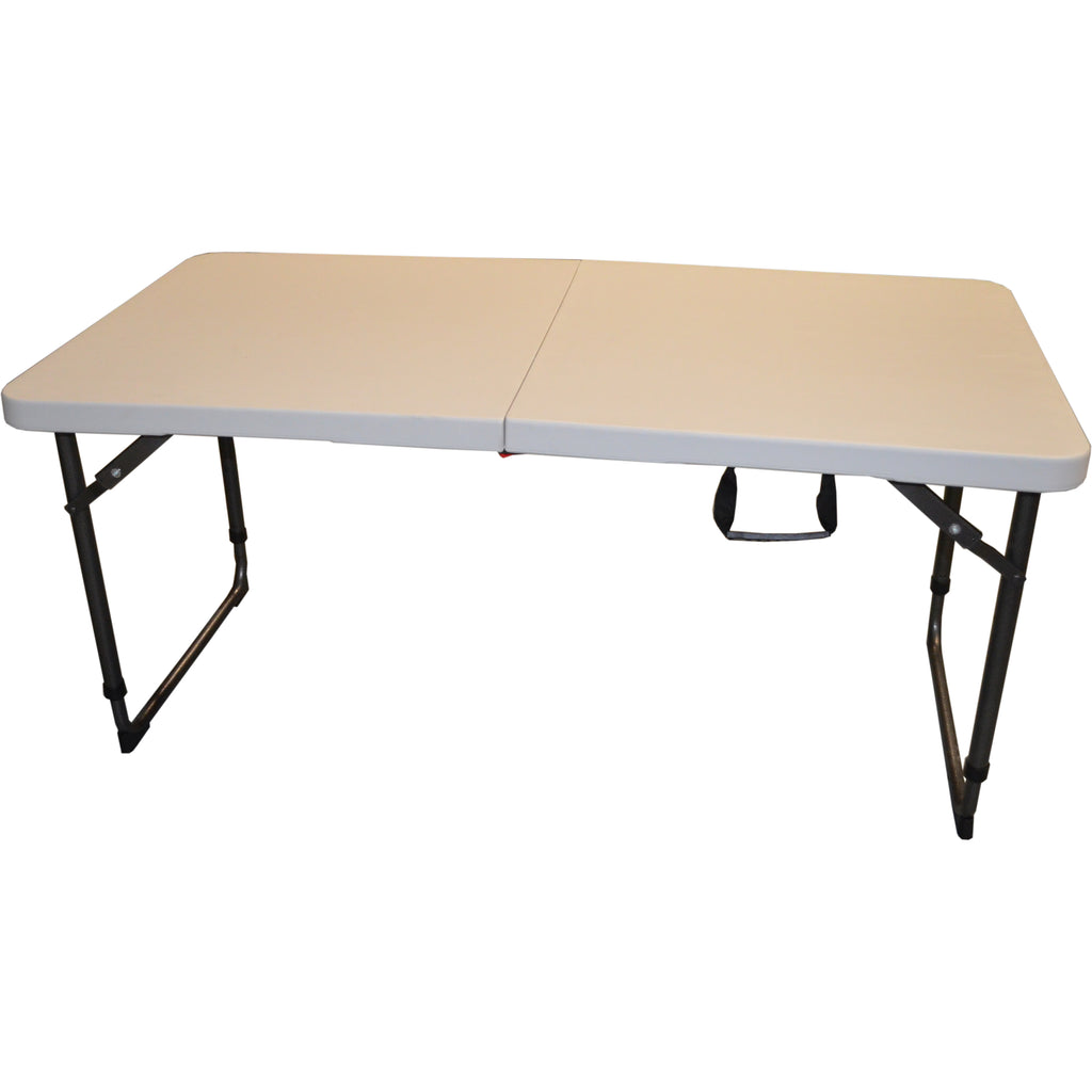 Folding Table 4ft with THREE Adjustable Heights, Easy Lock Mechanism Very Strong
