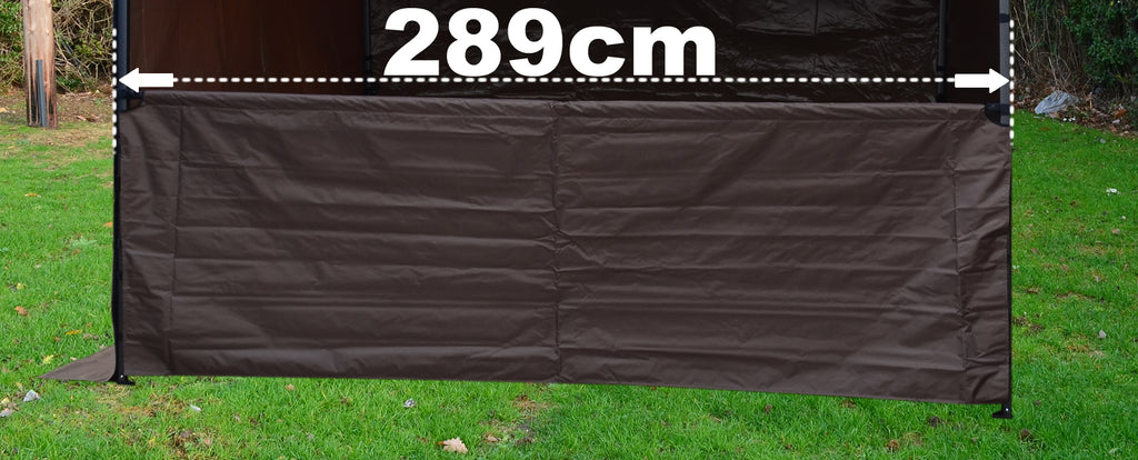 SHOWSTYLE® 3m Black Half Panel/ Serving Panel
