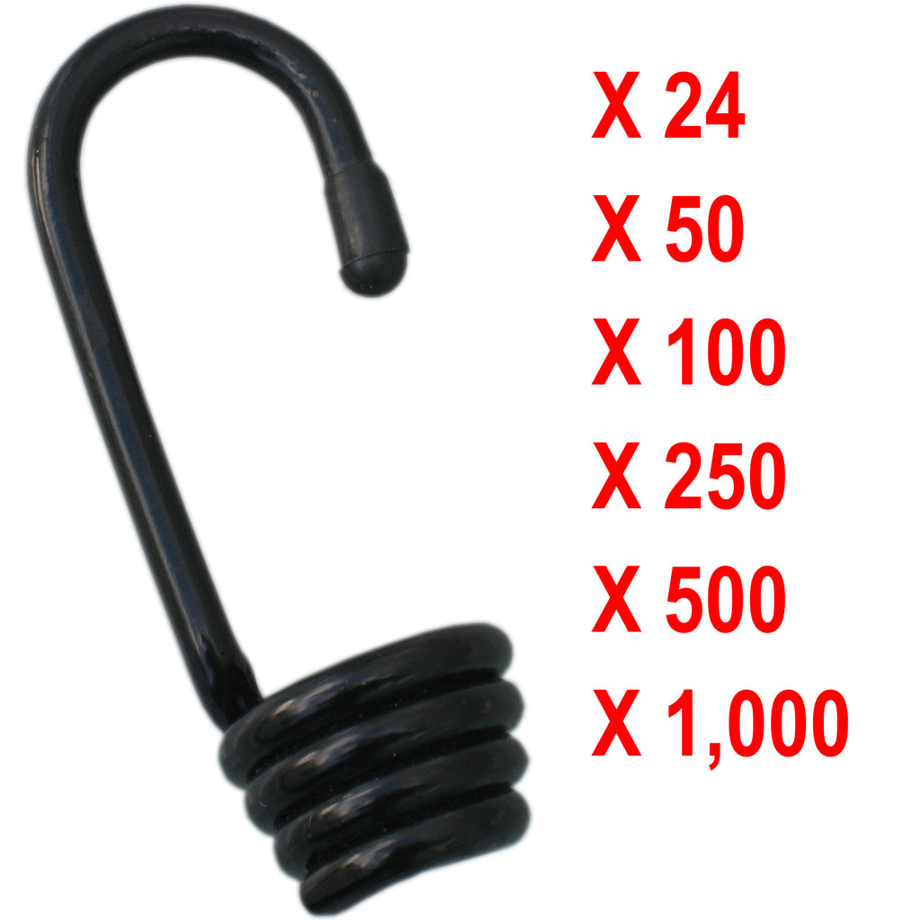 10mm and 12mm Bungee Hooks 5mm Plastic Coated