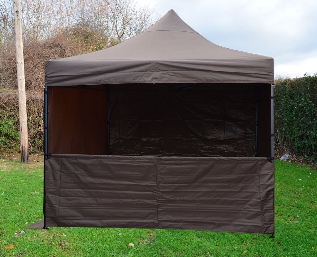 Gazebo Commercial Grade SHOWSTYLE® Fire Retardant 3m x 3m Coffee Heavy Duty