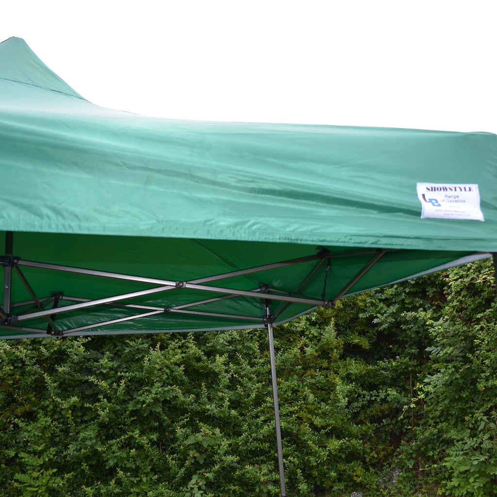 Green Heavy Duty SHOWSTYLE Commercial Grade Gazebo, Market Stall, Pop Up 3x3m, Options