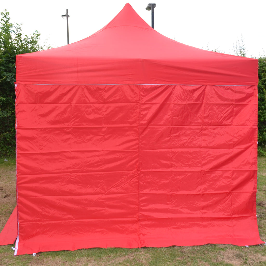 Red Plain Sidewalls to fit our 3m x 3m Showstyle Gazebo