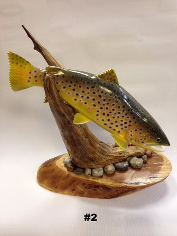 Trout Carving - The TroutFitter Fly Shop - Syracuse, New York