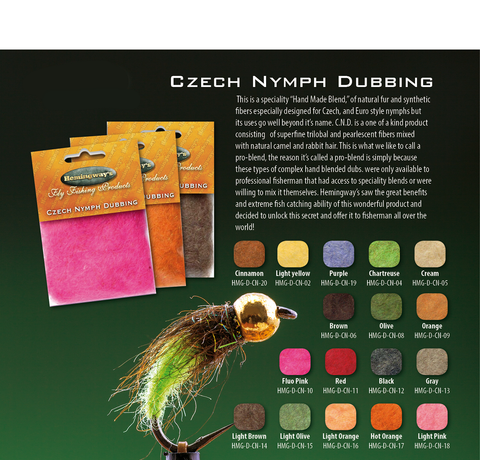 Czech Nymph Dubbing - The TroutFitter Fly Shop
