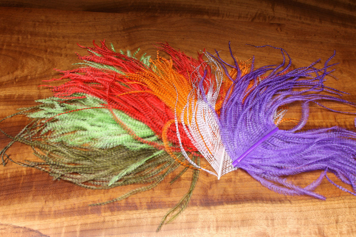 Barred Ostrich Plume Piece - The TroutFitter Fly Shop