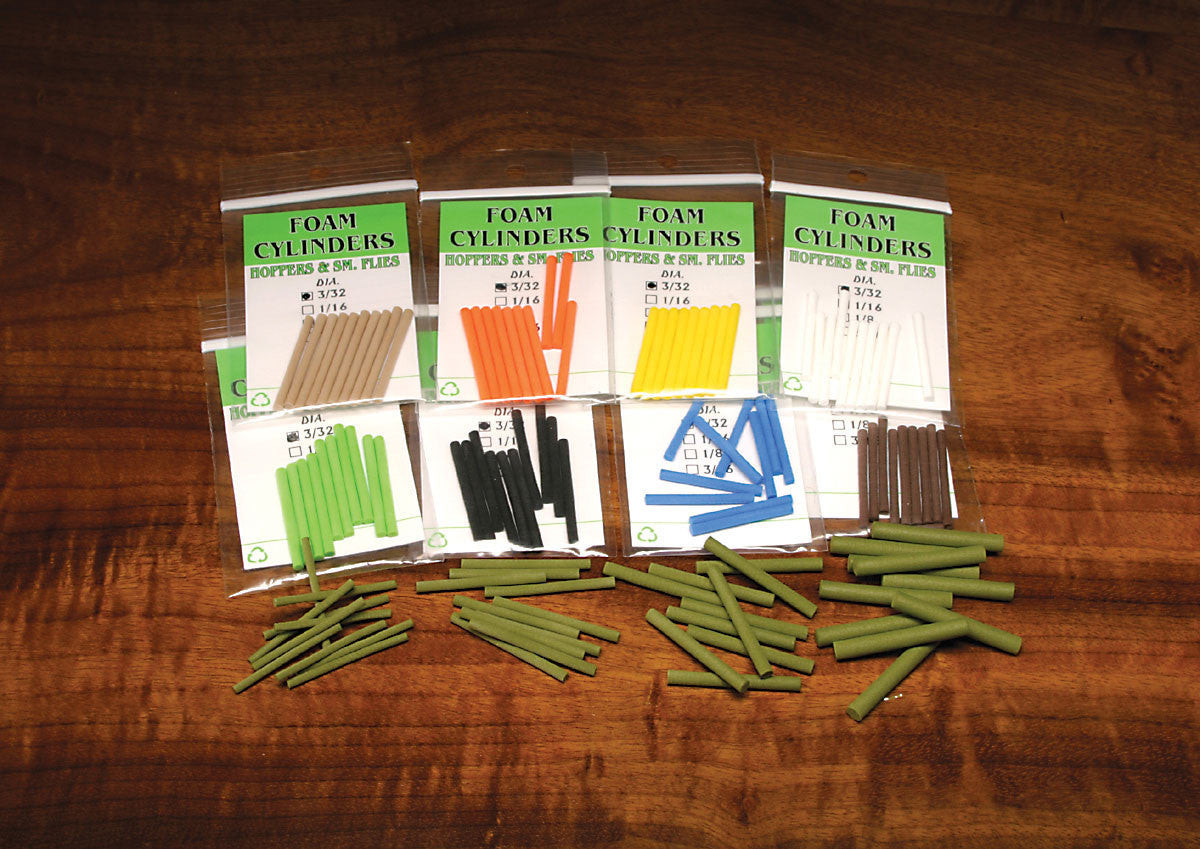 Fly Tying Foam Cylinders - The TroutFitter Fly Shop