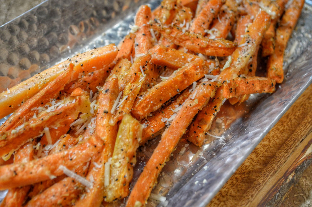 Parmesan Garlic Carrot Fries