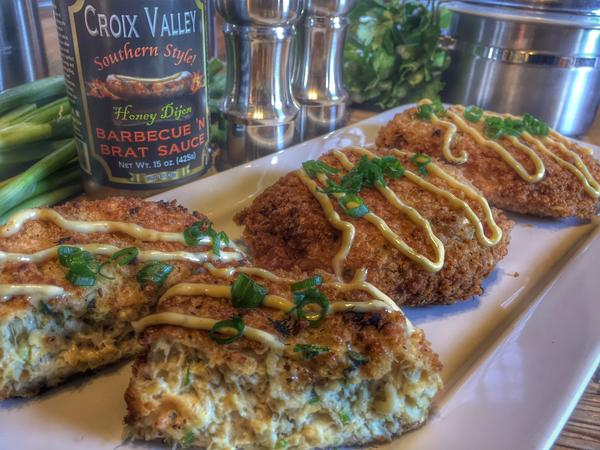 Croix Valley Honey Dijon Crab Cakes