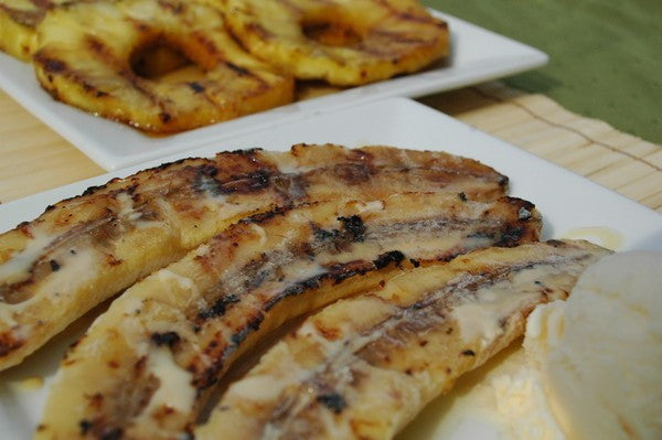 Honey-Glazed Pineapple & Grilled Sweet Bananas