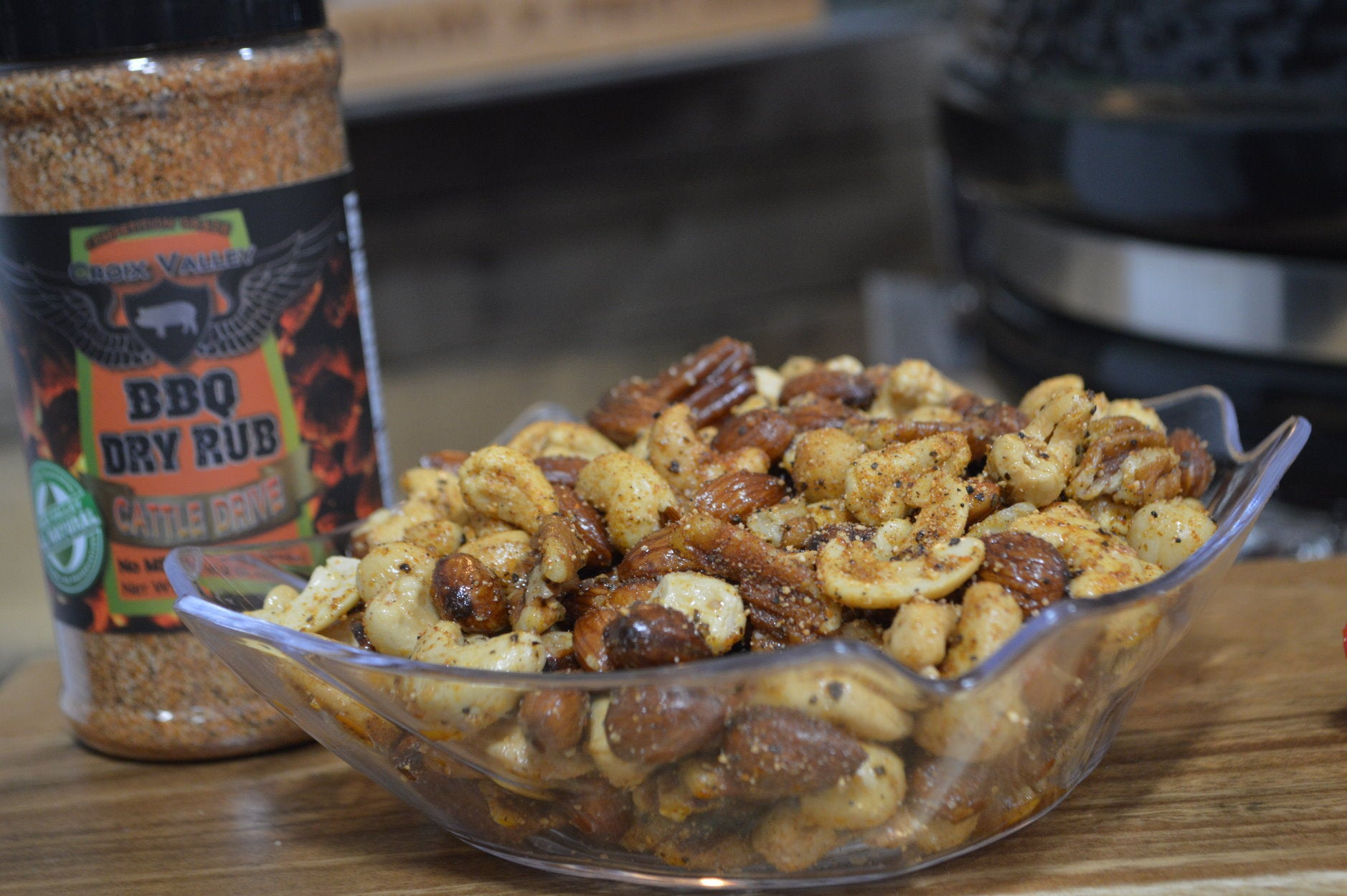 Smoked Mixed Nuts with Croix Valley Rubs