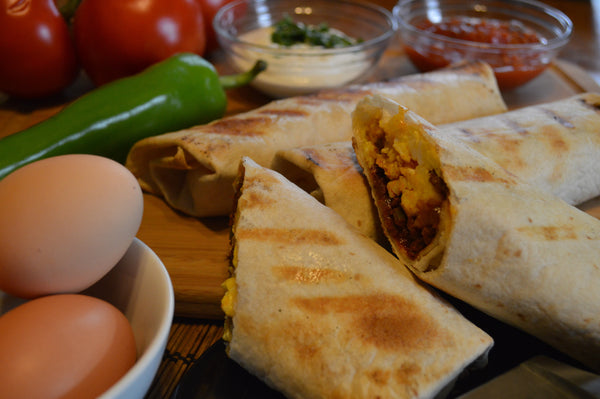 Grilled Chorizo Breakfast Burrito