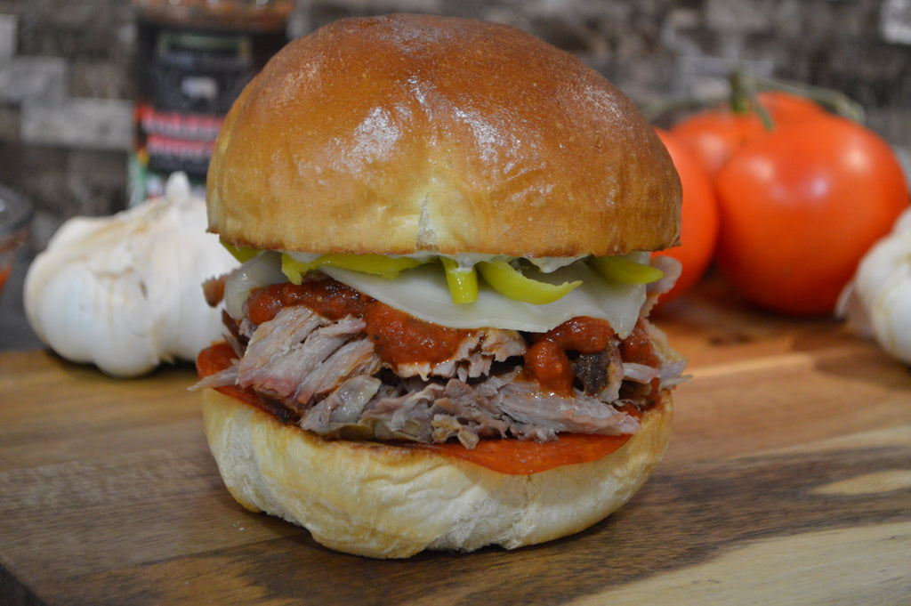 Sicilian Pulled Pork Sandwich