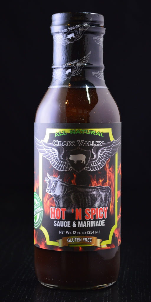 Croix Valley Hot n Spicy Sauce and Marinade