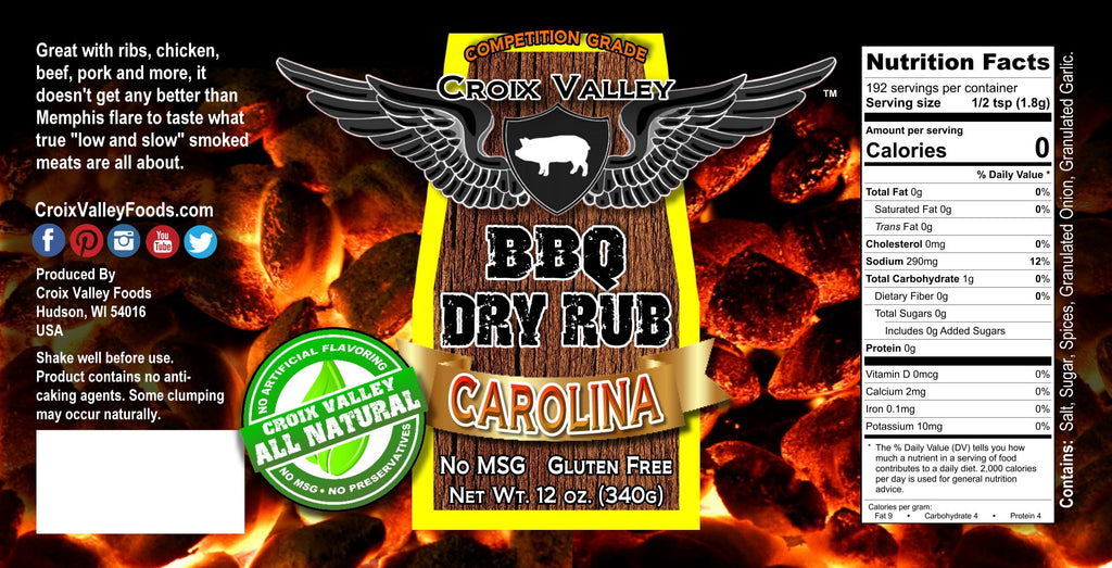 Croix Valley Carolina BBQ Dry Rub