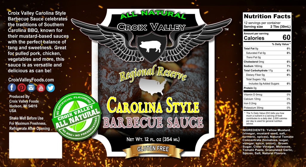 NEW! Croix Valley Carolina Style Barbecue Sauce