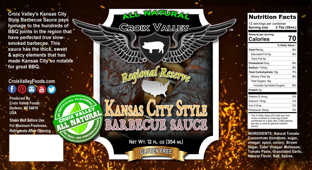 NEW! Croix Valley Kansas City Style Barbecue Sauce