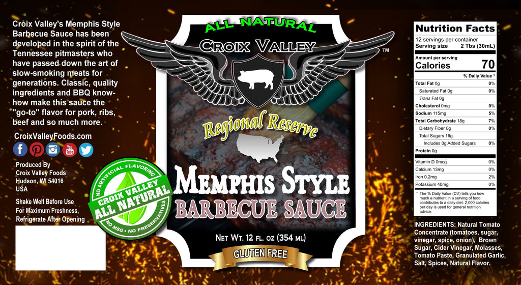 NEW! Croix Valley Memphis Style Barbecue Sauce