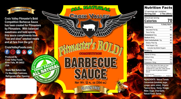 Croix Valley Pitmaster's Bold Competition Barbecue Sauce