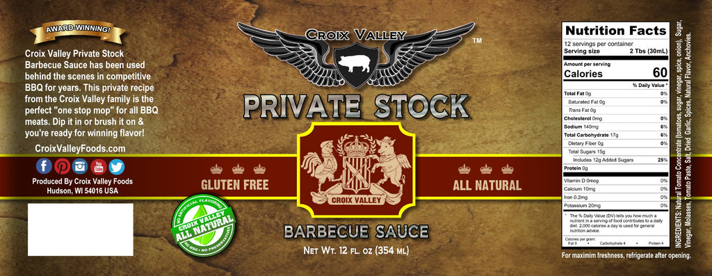 Croix Valley Private Stock Barbecue Sauce