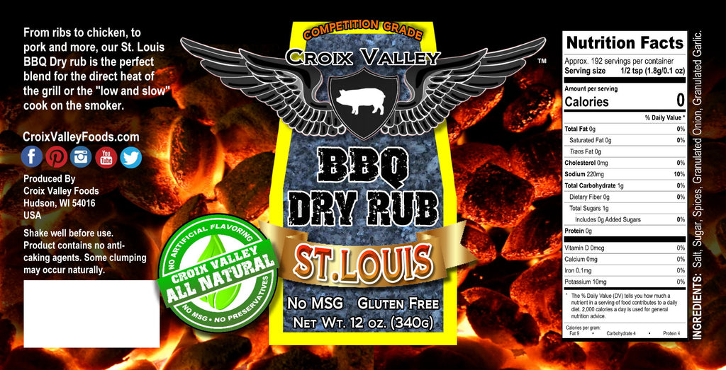 NEW! - Croix Valley St. Louis BBQ Dry Rub