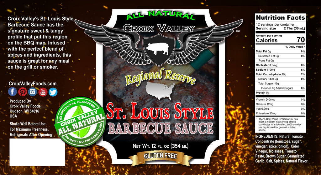 NEW! Croix Valley St. Louis Style Barbecue Sauce