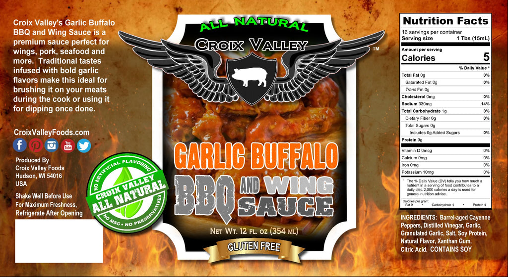 NEW! - Croix Valley Garlic Buffalo BBQ & Wing Sauce