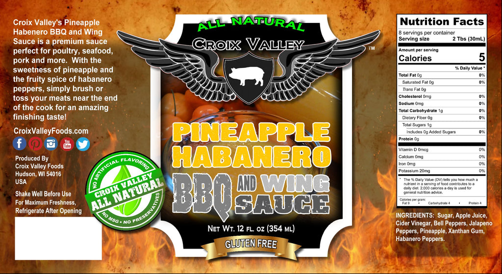 NEW! - Croix Valley Pineapple Habanero BBQ & Wings Sauce