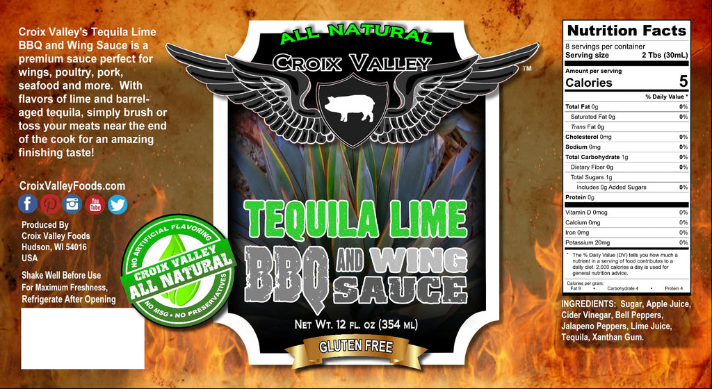 NEW! - Croix Valley Tequila Lime BBQ & Wing Sauce